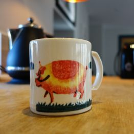 Large Helen Browning's Pig Earthenware Mug